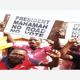Hostile Welcome For Prez Mahama …In Volta, As Kpando Residents Bare Fangs